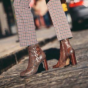 Free People Snakeskin Marietta Cutout Boots 9